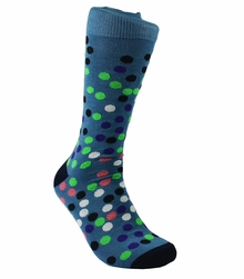 Smoke Blue Men's Cotton Dress Socks by Paul Malone