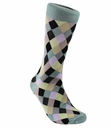 Smoke Blue Men's Dress Socks by Paul Malone