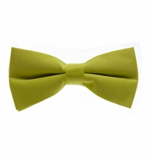 Solid Satin Green Bow Tie (BT10-MM)