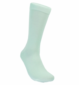 Solid Aqua Cotton Dress Socks by Paul Malone