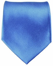 Solid Blue Paul Malone Silk Tie (840)