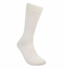 Solid Bone Cotton Socks by Paul Malone