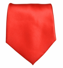 Solid Bright Red Boys Zipper Tie
