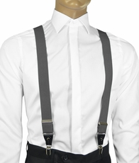 Solid Charcoal Men's Suspenders
