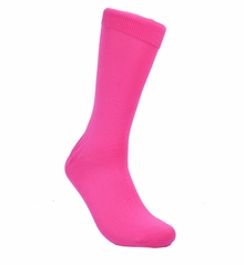 Solid Fuchsia Cotton Dress Socks by Paul Malone