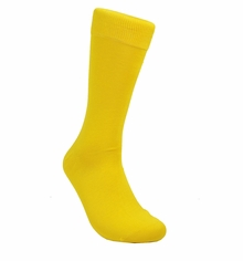 Solid Gold Cotton Dress Socks by Paul Malone