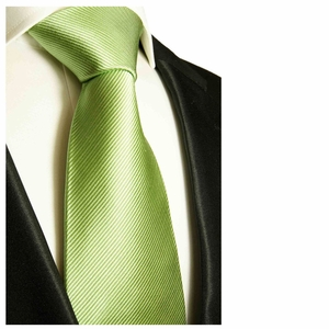 Solid Green Paul Malone Silk Tie (504)