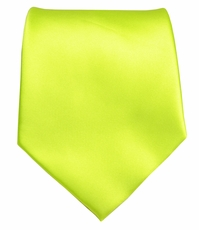Solid Lime Green Boys Zipper Tie