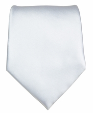 Solid Lite Silver Boys Zipper Tie