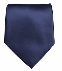 Solid Navy Blue Boys Zipper Tie