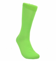 Solid Neon Mint Cotton Dress Socks by Paul Malone
