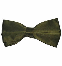 Solid Olive Green Bow Tie (BT10-FF)