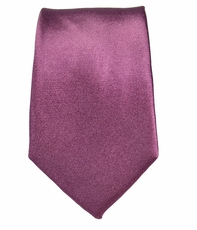 Solid Plum Slim Tie by Paul Malone . 100% Silk