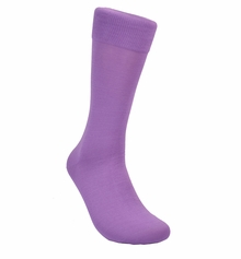 Solid Purple Cotton Dress Socks by Paul Malone