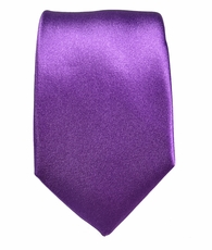Solid Purple Silk Tie by Paul Malone