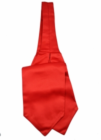 Solid Red Ascot Tie and Pocket Square
