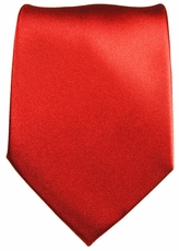 Solid Red Paul Malone Silk Necktie (908)