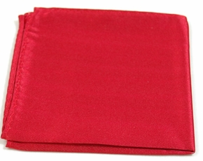 Solid Red Pocket Square . 100% Silk (H908)