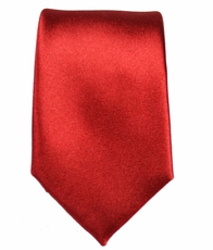 Solid Red Slim Tie by Paul Malone . 100% Silk