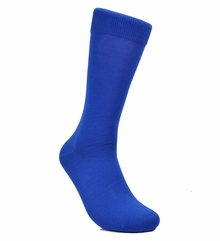 Solid Royal Blue Cotton Dress Socks by Paul Malone