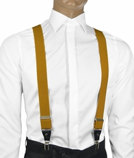 Solid Sunflower Men's Suspenders