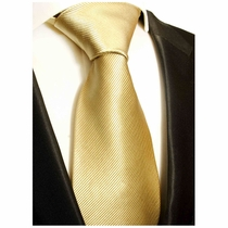Solid Tan Paul Malone Silk Tie (804)