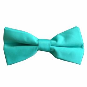 Solid Turquoise Bow Tie . Pre-Tied (BT10-E)