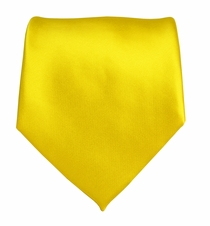 Solid Yellow Boys Zipper Tie