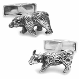 Sterling Bull and Bear Cufflinks