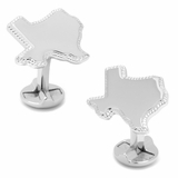 Sterling Silver Texas Rope Border Cufflinks
