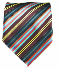 Striped Men's Necktie . Grape