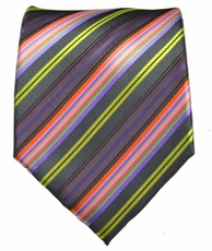 Striped Men's Necktie . Purple