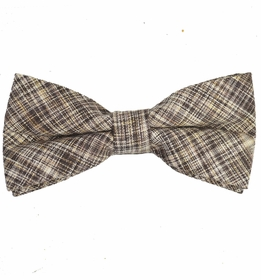 Tan Cotton/Linen Bow Tie by Paul Malone Red Line