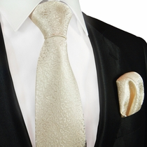 Taupe Wedding Silk Tie Set by Paul Malone