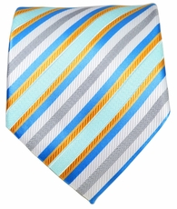 Turquoise and Gold Men's Necktie