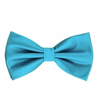 Turquoise Bow Tie and Pocket Square Set (BT100-U)