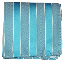 Turquoise Mens Silk Pocket Square (H690)
