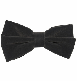 Velvet Bow Tie and Pocket Square . Charcoal