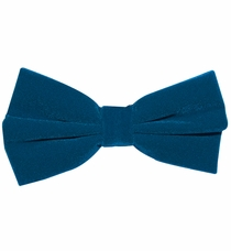 Velvet Bow Tie and Pocket Square Set . Mosaic Blue