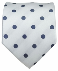 White and Gray Dotted Men's Necktie