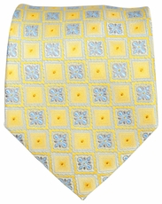 Yellow and Light Blue Men's Tie