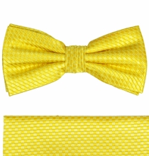 Yellow Bow Tie and Pocket Square Set by Paul Malone . 100% Silk (BT506H)