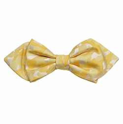 Yellow Camouflage Silk Bow Tie by Paul Malone Red Line