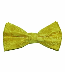 Yellow Paisley Bow Tie (BT20-GG)