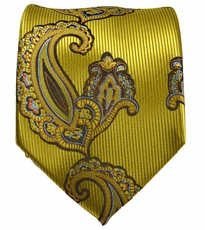 Yellow Paisley Men's Tie