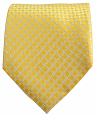 Yellow Patterned Men's Necktie