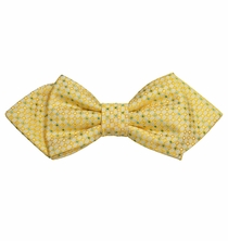 Yellow Silk Bow Tie by Paul Malone Red Line