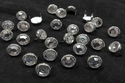 T2345-2P Clear  1/2 inches 12.7mm Synthetic Crystal Gem Round Spots 10/pk
