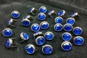 T2345-2P Dark Blue  1/2 inches 12.7mm Synthetic Crystal Gem Round Spots 10/pk