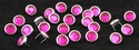 T2345-2P Dark Pink 1/2 inches 12.7mm Synthetic Crystal Gem Round Spots 10/pk